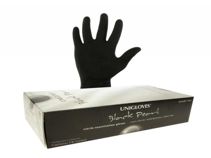 Uniglove Black nitrile disposable oven cleaning gloves